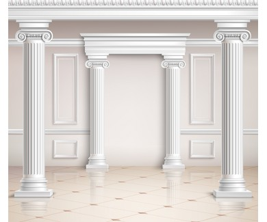 Фотообои Реалистичный классический зал