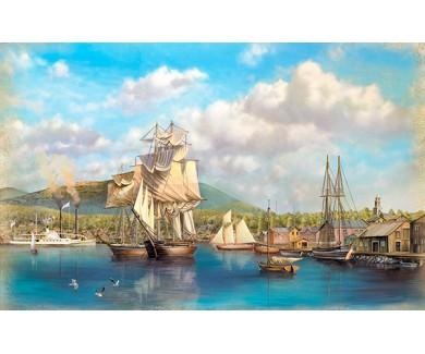 Фотообои Корабли на причале