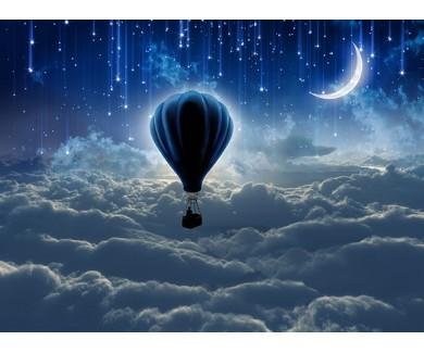 Фотообои Воздушный шар в ночном небе