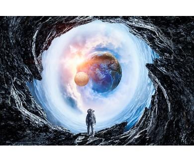 Фотообои Космическое пространство и астронавт