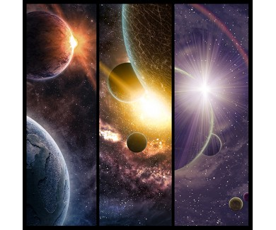 Фотообои Космос, коллаж