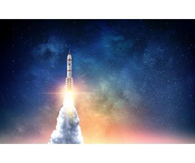 Фотообои Полёт космической ракеты