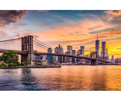 Фотообои Бруклинский мост на закате