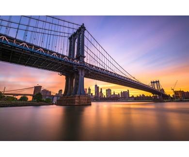 Фотообои Манхэттенский мост на закате