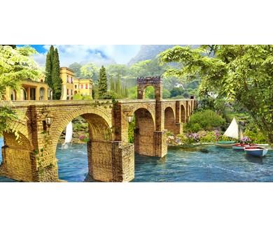 Фотообои Мост через реку