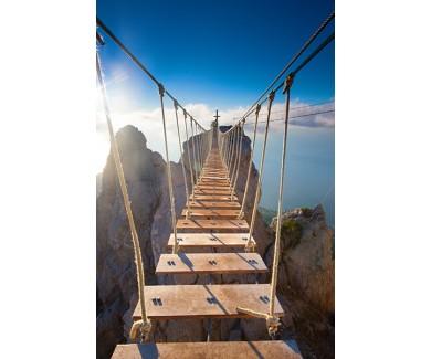 Фотообои Подвесной мост в горах