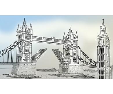 Фотообои Тауэрский мост, рисунок карандашом