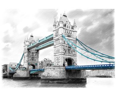 Фотообои Тауэрский мост на Темзе