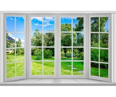 Фотообои Вид из окна в сад