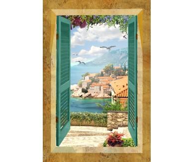 Фотообои Вид из окна на город