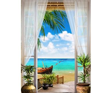 Фотообои Вид из окна на море