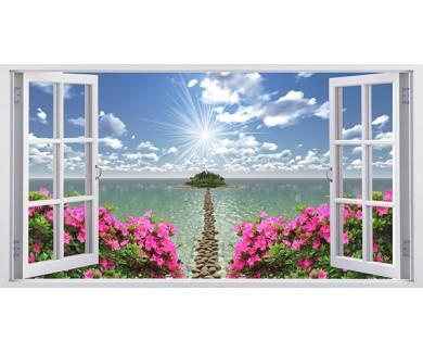 Фотообои Вид из окна на райское место
