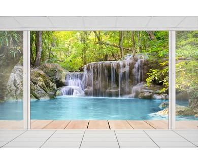 Фотообои Вид с терассы на водопад