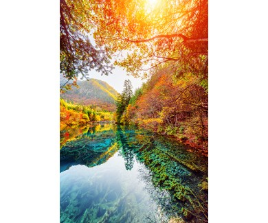 Фотообои Удивительный вид на Пятицветное озеро