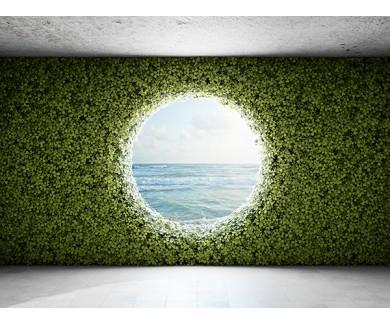 Фотообои Большое круглое окно в стене