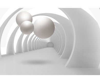Фотообои Туннель и шары