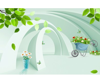 Фотообои 3D арка в саду