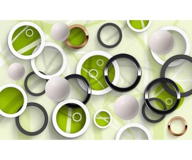 Фотообои Объёмные круги разных цветов