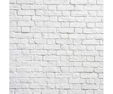 Фотообои Белая кирпичная стена