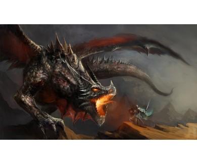 Фотообои Рыцарь и дракон