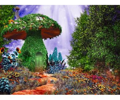Фотообои Сказочный грибной фон