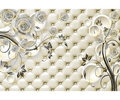 Фотообои Текстура дивана и цветы