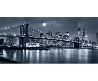 Фотообои Чёрно белая панорама на Нью-Йорк