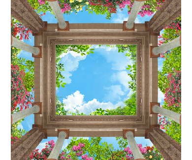 Фотообои Колонны и небо