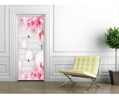 Наклейка на дверь Весеннее настроение 3D