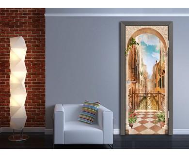 Наклейка на дверь Арка в Венеции