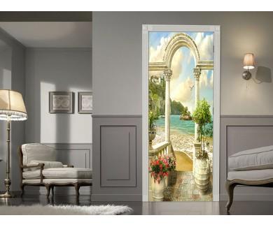 Наклейка на дверь Древняя арка