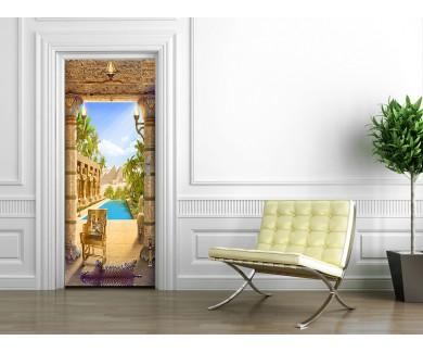 Наклейка на дверь Египетская арка