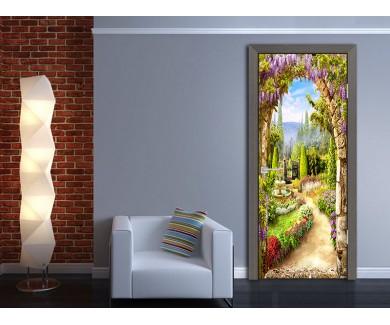 Наклейка на дверь Каменная арка