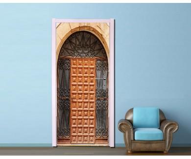 Наклейка на дверь Старинная испанская дверь