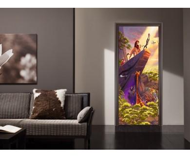 Наклейка на дверь Король Лев