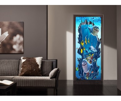 Наклейка на дверь Морская братва