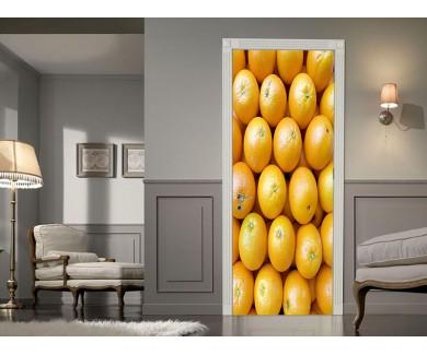 Наклейка на дверь Лимоны