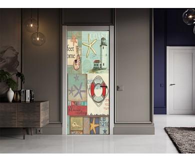 Наклейка на дверь Морская тема 2