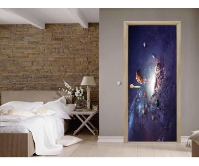Наклейка на дверь Солнечная система