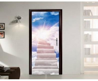 Наклейка на дверь Лестница к солнцу