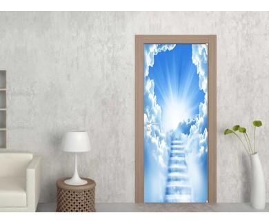 Наклейка на дверь Лестница в небо