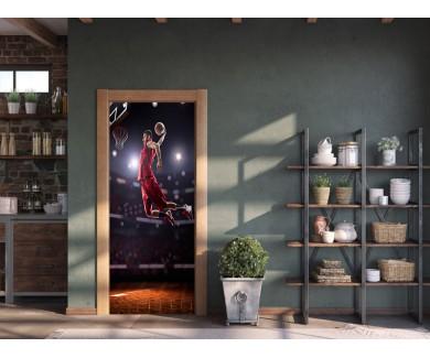 Наклейка на дверь Баскетбол