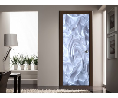 Наклейка на дверь 3D шелк