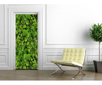 Наклейка на дверь Ковёр из растений