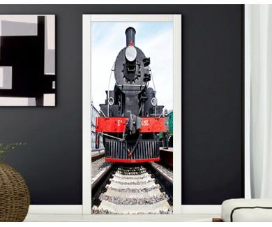 Наклейка на дверь Советский паровоз