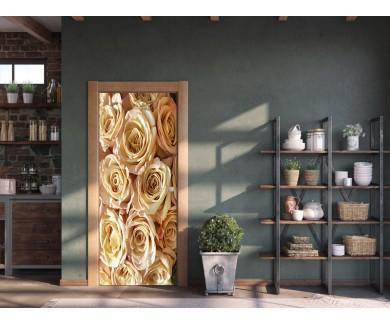 Наклейка на дверь Букет цветов