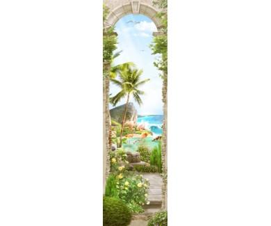 Фотообои Древняя мраморная арка с трещинами