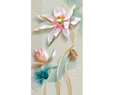 Фотообои Красивый цветок на фоне рисунка