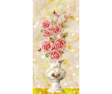 Фотообои Розово молочные розы