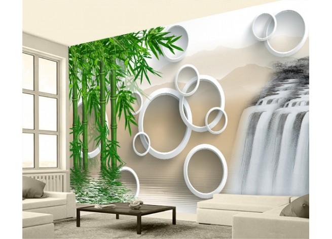 Фотообои Водопад и бамбук